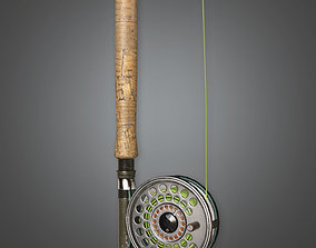 TLS - Fishing Pole 02 - PBR Game Ready 3D asset game-ready