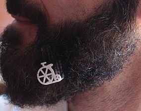 Old bike for beard - lateral wearing 3D print model