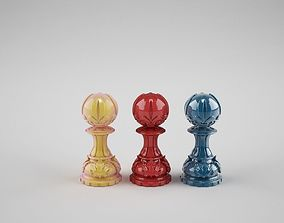 3D print model chess pawn 1
