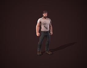 3D asset animated Survivor