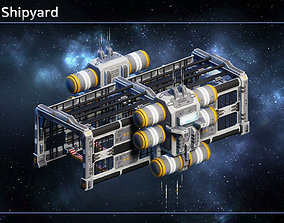 3D model low-poly Spaceship Shipyards