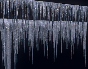 3D asset Icicles set