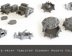 3D SciFi Tabletop Scenery assets