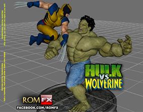 Hulk vs Wolverine the Amazing Diorama 3D printable model