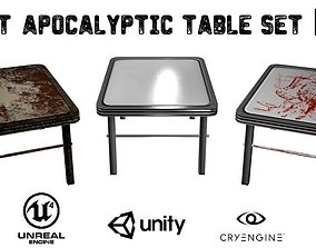 3D asset Post-Apocalyptic Table Set
