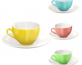Colorful Mug SET 3D model