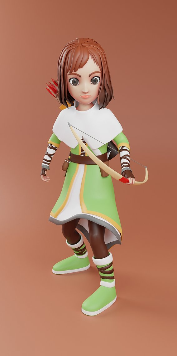 Archery girl character