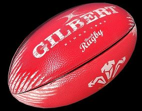 3D model Welsh Rugby Ball