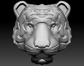 Tiger flat relife 3D print model