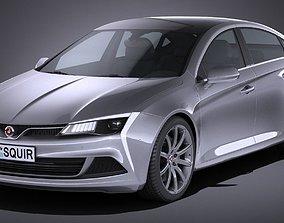 3D model Generic Sedan NN 2017