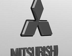 3D model mitsubishi logo
