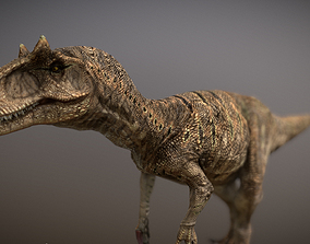 3D model animated Dinosaur Allosaurus Fragilis