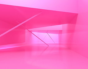 Pink Room and Pink Background 3D model