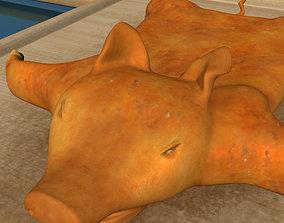 Roast piglet low poly 3D model