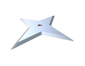 3D print model Shuriken projectile
