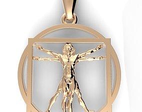 3D printable model Vitruvian Man Pendant vinci