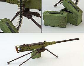 3D asset Machine Gun