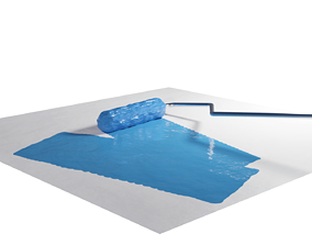Paint Roll with Dynamic Paint 3D model