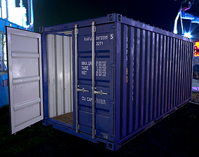 3D model Shipping Container Low poly