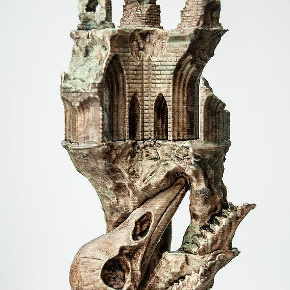 Ancient Raven Castle - 3D Printable model