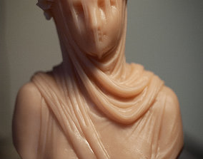 Classical Statue Bust - Veiled Vestal 3D printable model 1