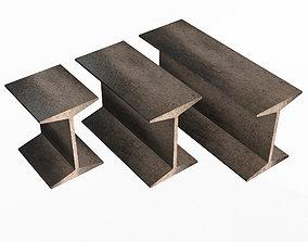 Iron Beams Set 3D model