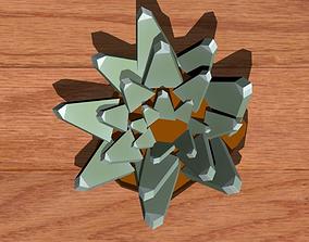 Succulents 3D asset