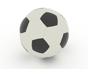 3D asset low-poly Soccer ball soccerball