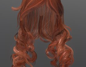 Woman hairstyle 3D asset