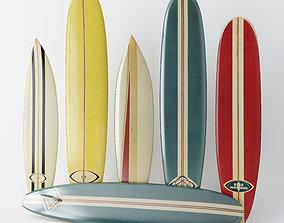 3D model Vintage Longboard