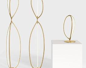 Artemide Arrival Floor and Table lamps 3D model