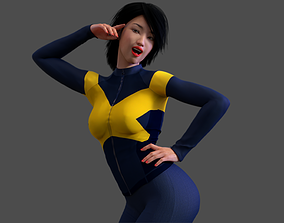 3D model Asian X-Woman Naked