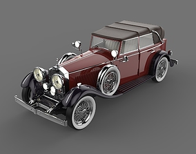 Rolls Royce Phantom II Red and Black Color 3D model