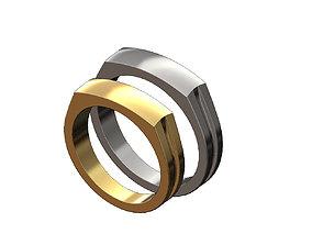 3D print model Dome top signet ring