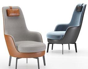 Flexform guscioalto lounge chairs 3D model cloth