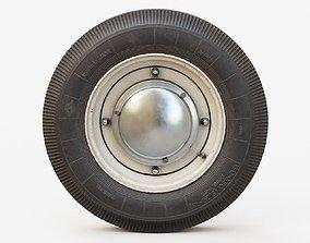 Vintage Car Wheel PBR soviet 3D model
