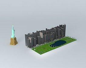 central parc NEW YORK. 3D