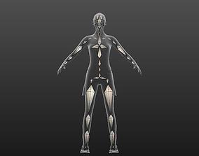 Sarah Advanced Skeleton 3D model