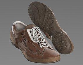3D model Brown shoes
