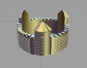Fortress bastille presidio alcazar ring 3D printable model