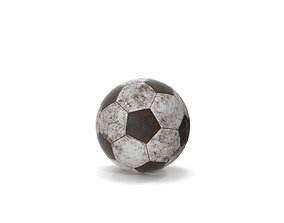 3D asset Old Dirty Soccer Ball