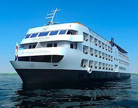 Cruise Ship 3D model river