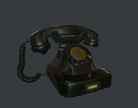 3D model Retro phone pbr
