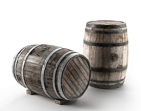 Wooden Barrel models 3D model