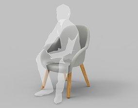 Classic Mid-Century Chair 3D model