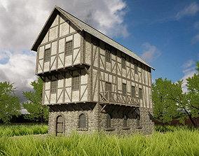3D asset HQ Modular Fantasy House