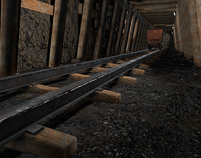 Underground Coal Mine Tunnel 3D asset