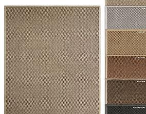 Belgian Double Weave Sisal Rug RH carpet 3D model