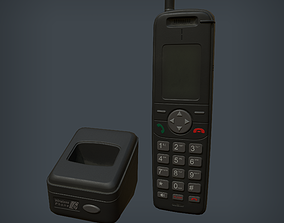 3D model Wireless Phone and Base