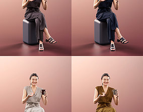 3D 11285 Francine - 4 Texturevariations Asian woman 1